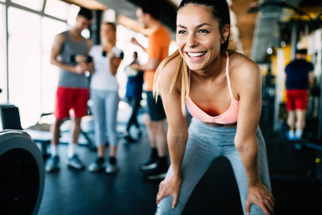Smiling Healthy Fit Woman